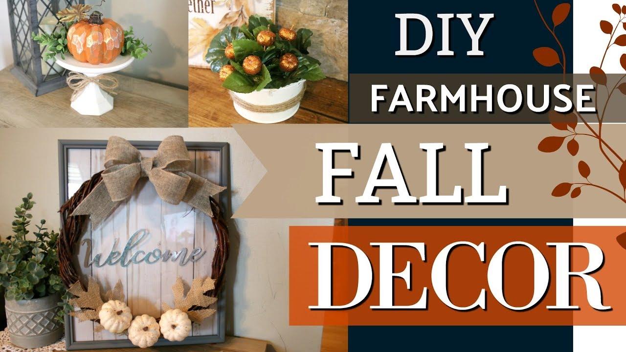 Diy Farmhouse Fall Decor Dollar Tree Diy Fall Ideas 2018 Krafts By Katelyn