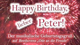 Happy Birthday, lieber Peter! Alles Gute zum Geburtstag!