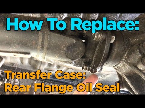 DIY: Toyota 4×4 Transfer Case Rear Flange Oil Seal Replacement