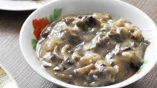 Грибная подливка (соус, подлива) из шампиньонов - вегетарианский рецепт