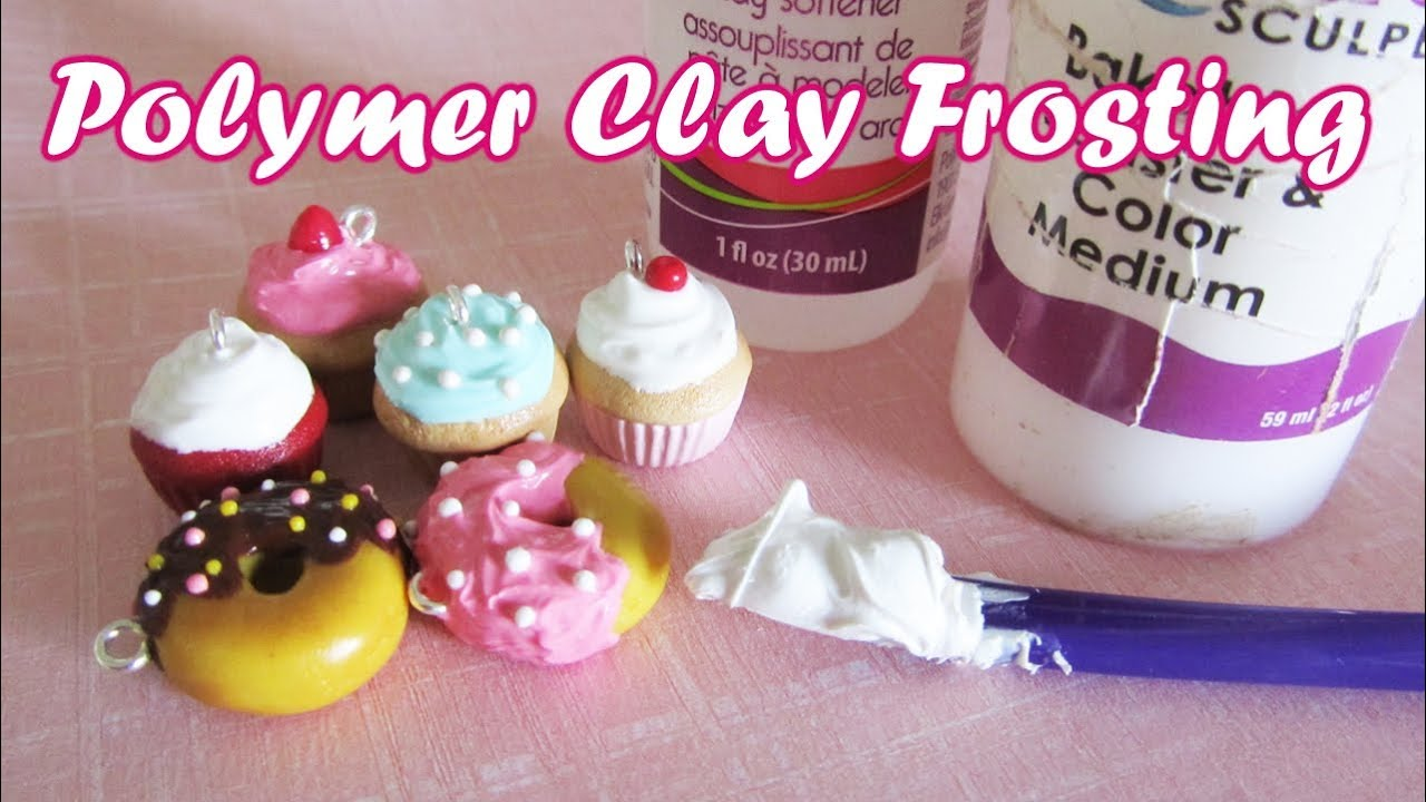 How To: Polymer Clay Frosting/Icing - YouTube