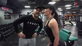 КАК НЕ НАДО ТРЕНИРОВАТЬ ПЛЕЧИ ! Фитнес пара. Fitness couple.