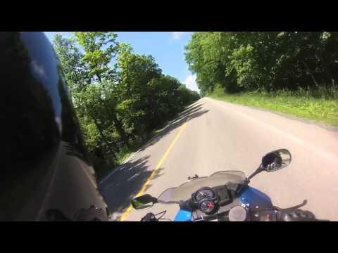 Riding through West Virginia