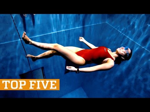TOP FIVE: Deep Pool Freediving, Skiing & Martial Arts   PEOPLE ARE AWESOME 2017
