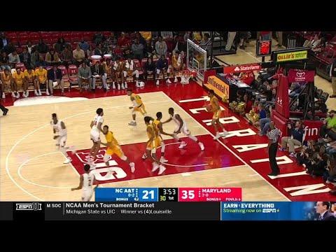 Highlights: North Carolina A & T at Maryland | Big Ten Basketball