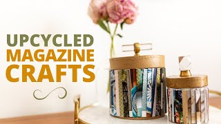 Make These Cute & Easy Crafts With Upcycled Magazines!