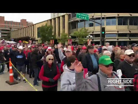 VERY LONG Lines To See President Trump at Rally in Rochester, MN 10-4-18