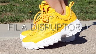 women's yellow fila disruptor 2