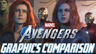 Marvel's Avengers Graphics Comparison (Side-by-Side)! E3 2019 vs. Gamescom 2019! Pre-Alpha Build!