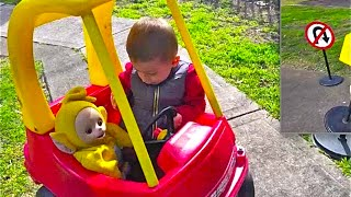 Rules of the road for the kids, playing in an accident and auto mechanics, drive large cars, Учим пр