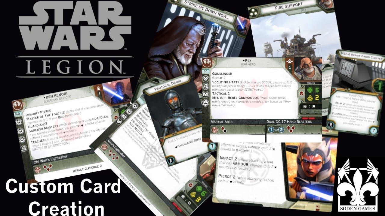 Star Wars Legion Custom Card Creation Tutorial Youtube