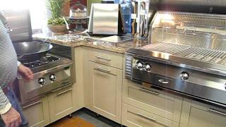 Outdoor Kitchen Stainless Steel Cabinetry Display