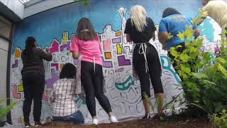 Lyft + Urban Artworks Team Building Mural