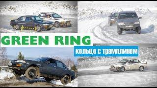 Зимний этап Зеленогорск обзор тест драйв Toyota Carina / прыжок / трамплин