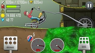 Hill Climb Racing - Chopper Bike in Nuclear Plant 12512m