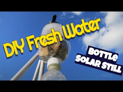 DIY fresh water - free solar soda bottle still easy quick to make