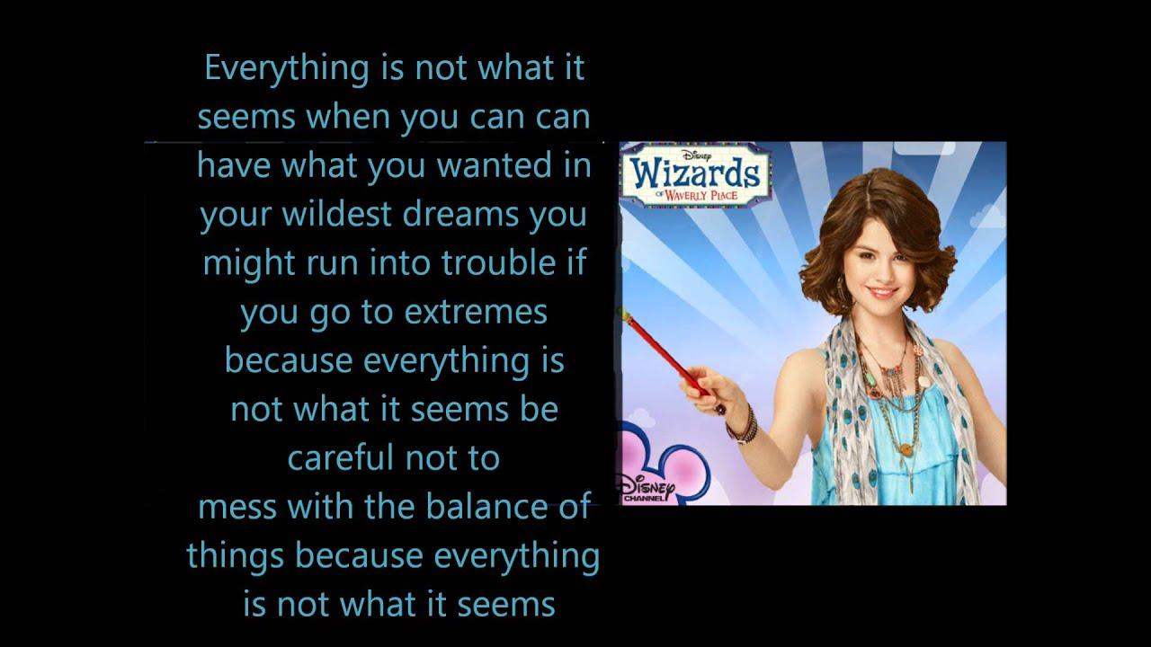 Wizards Of Waverly Place Theme Song Lyrics Youtube