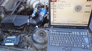 BMW e30, e28, e34 engine diagnostic using Autocom OBD tool kit