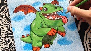 como dibujar a baby dragon | how to draw baby dragon | como desenhar dragão do dragon city