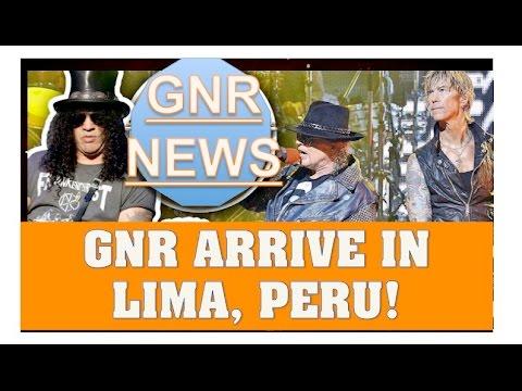 Guns N' Roses News:  GNR To Land in Lima (Ate), Peru To Kick Off Latin America Tour Dates!