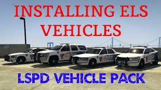 HOW TO INSTALL LSPD ELS VEHICLE PACK for LSPDFR GTA 5 (EASY MODDING)