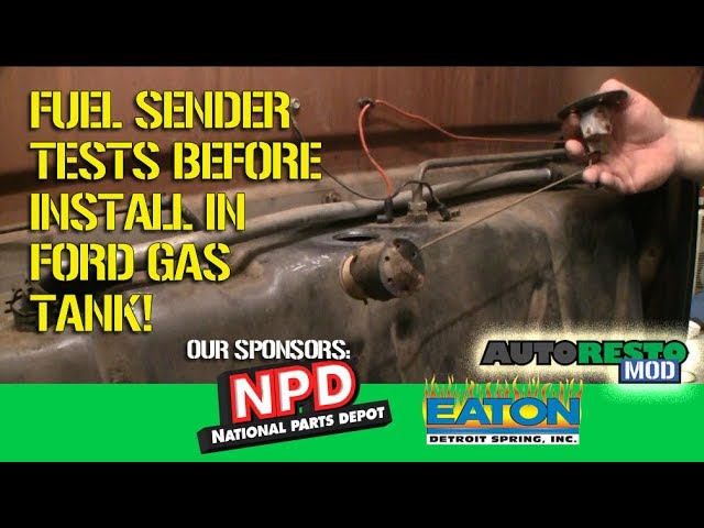 Episode 319 Classic Ford F100 Fuel Sender Gas Gauge Testing Mustang