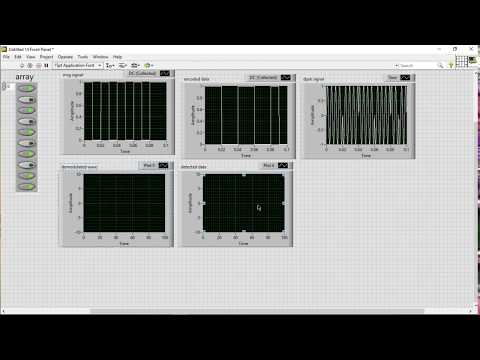 Differentially encoded binary PSK (DPSK) using LabVIEW