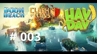QUER PLAY #003 | Boom Beach - Clash of Clans - Hay Day
