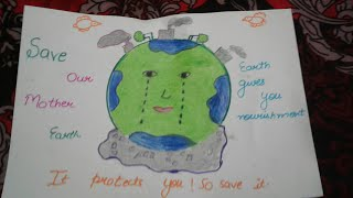 Save earth with slogan