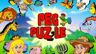 Peg Puzzle 1 Shape Puzzles for Kids - Full App Gameplay Video