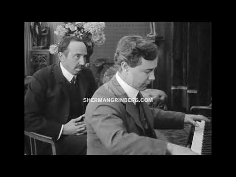 Josef Hofmann - Silent Film Footage c. 1910 playing snippet from Wagner-Liszt Tannhäuser Overture