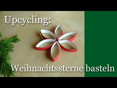 weihnachtssterne basteln upcycling f r weihnachten weihnachtsdeko youtube. Black Bedroom Furniture Sets. Home Design Ideas