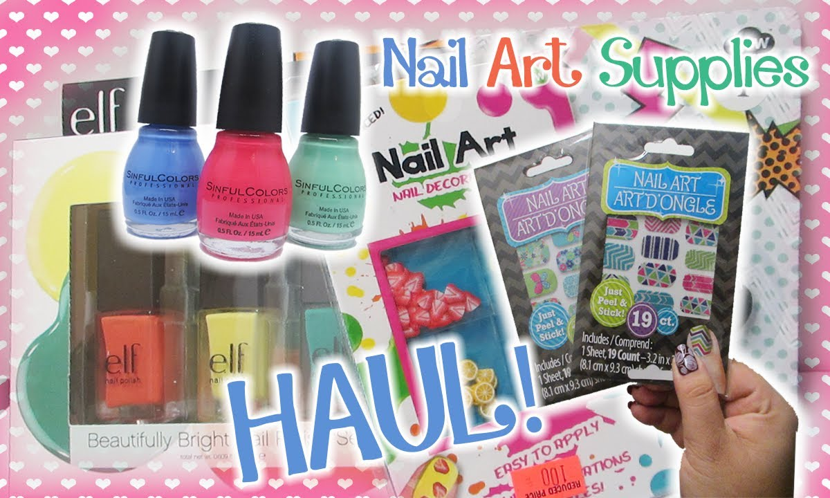 Nail Art Supplies Haul From Dollar Tree Big Lots Walgreens More