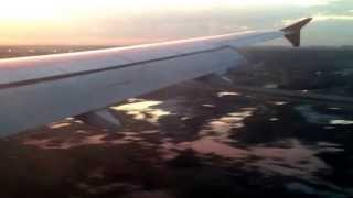 Landing at Sheremetyevo international airport. Flight SU2407 from Rome Fiumicino