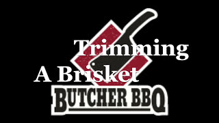 how to trim a brisket butcher style