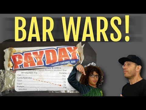 NEW Primeval Labs BAR Vs PAYDAY   Protein Bar vs Candy - Kids Choice