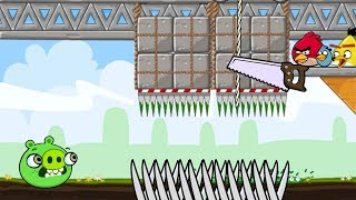 Crush Bad Piggies - DROP GIANT STONE TO ALL PIG BY CUTTING ROPE GAMEPLAY!