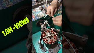 Celling fan Coil winding Machine#short