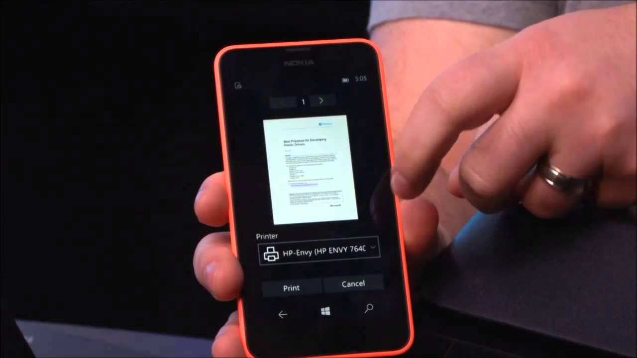 Windows Phone Drucken
