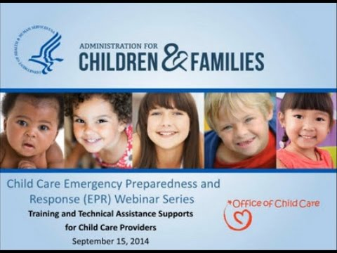Training and Technical Assistance Supports for Child Care Providers