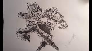 Speed Drawing: Goku vs Jiren