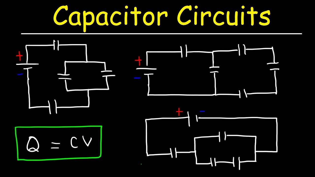 how to solve any circuit problem with capacitors in series