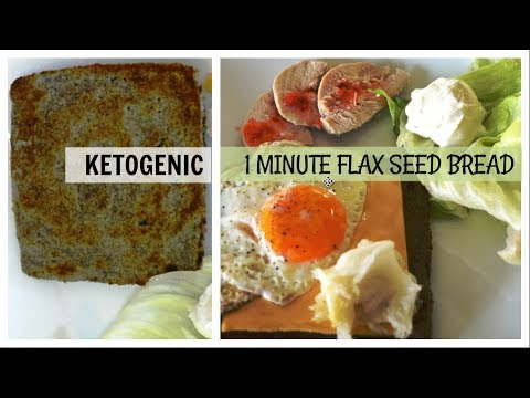 1 minute Flax seeds bread | Ketogenic | Low carb