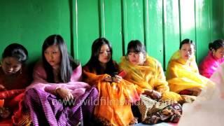 Invitees gather for marriage feast - Mangani chakkouba, Manipur