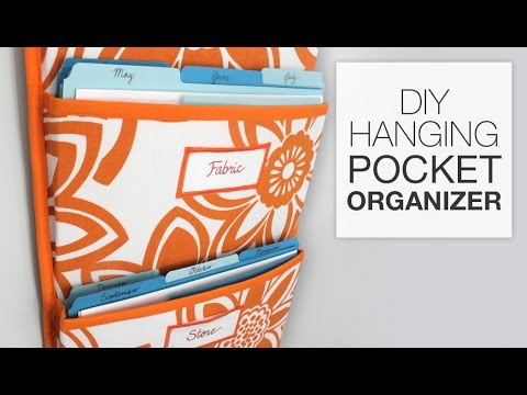 How to Make a Hanging Pocket Organizer