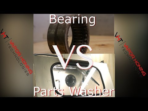 Hydro Blast Max Vs. Bearing, Wet Blasting Parts Washer, Vapor Honing Technologies.