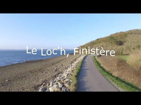 Le Loc'h vue du ciel, Landévennec Finistère