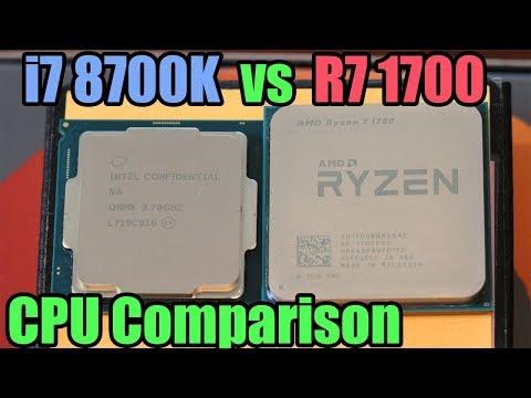 Intel i7 8700K vs Ryzen 7 1700 Showdown - Battle Of The Big Boys!