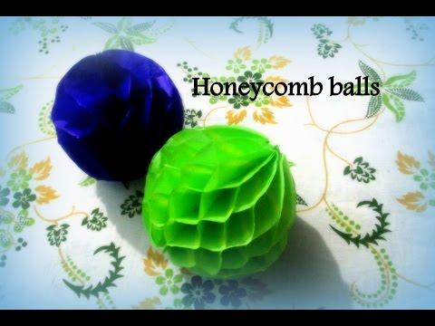 DIY Paper Crafts :: How to Make Honeycomb Pom Pom - Innovative arts
