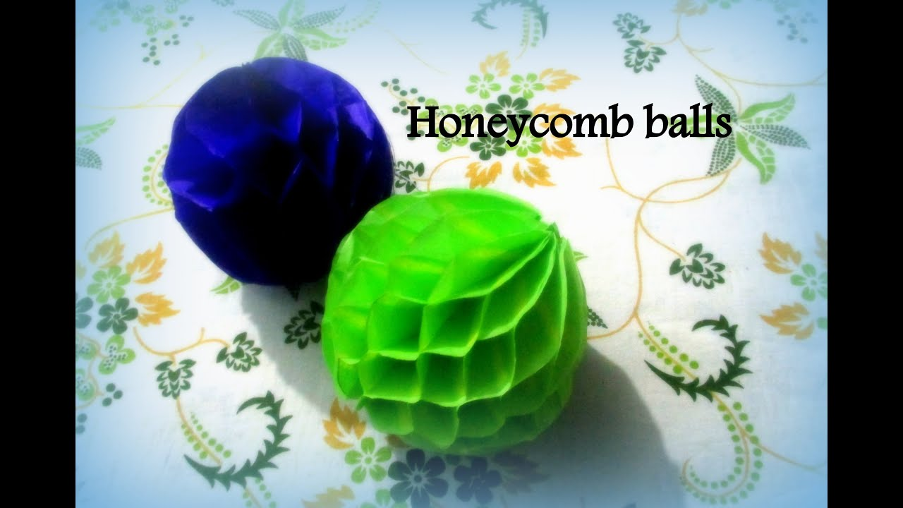 DIY Paper Crafts How To Make Honeycomb Pom